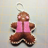 Tutorial Gingerbread Man Ornament Hop Skip Jump