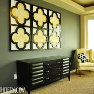 Tutorial Quatrefoil Diy Decorative Wall Art