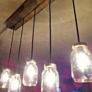 Twenty8divine Mason Jar Rustic Pallet Light Fixture Diy