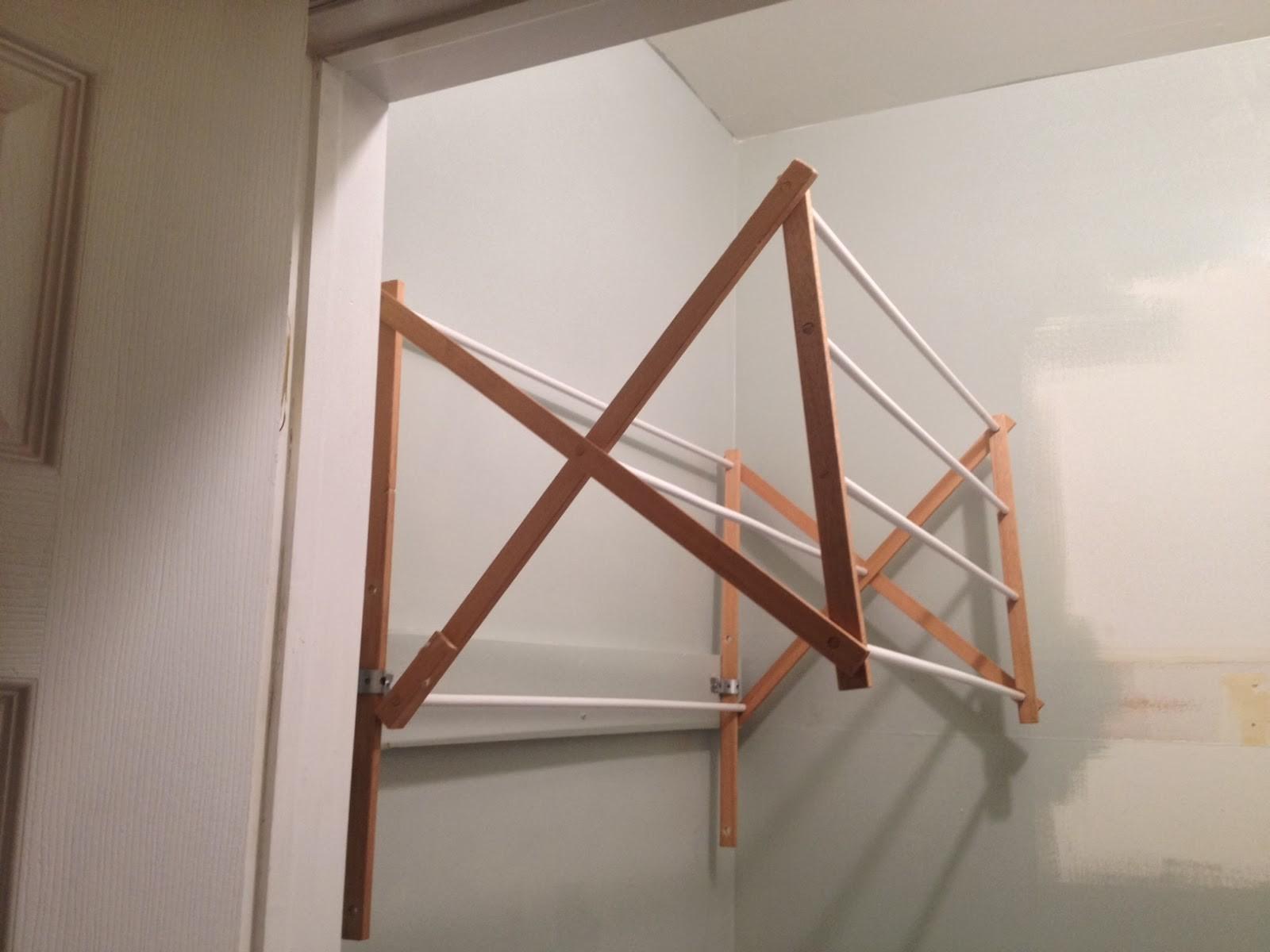 34 great diy laundry drying wall rack