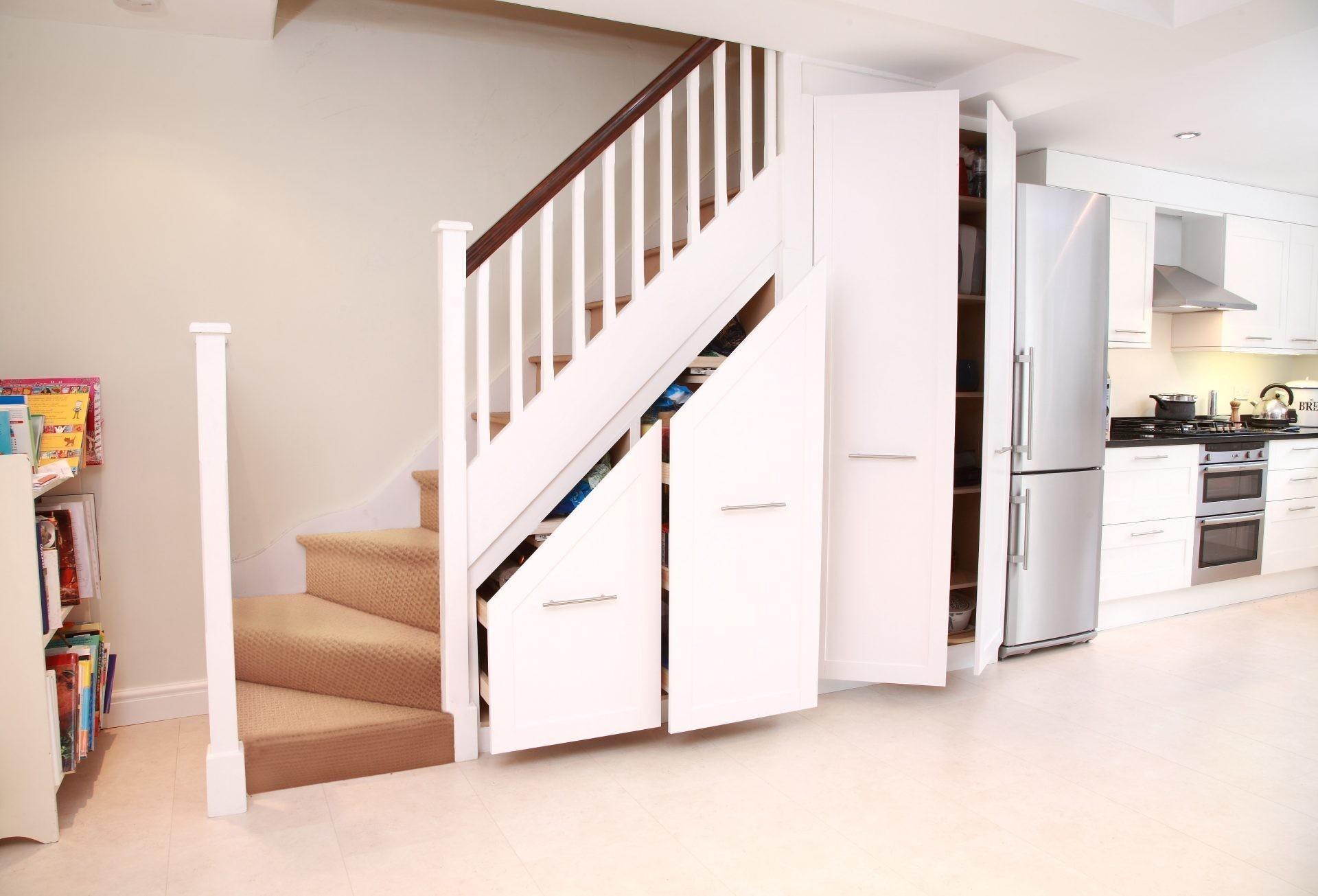 32 Dream Under Stair Storage That You Should See Today Inspire | Modern Under Stairs Storage | Hallway Understairs Storage | Grey | Home Stair | Bajo | Minimal