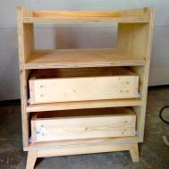 Unfinished Diy Bedside Nightstand Table Storage