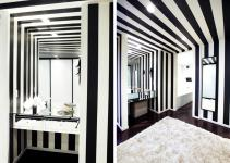Unique Black White Striped Bathroom Minimalist