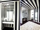 Unique Black White Striped Bathroom Minimalist