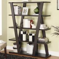 Unique Wooden Bookshelf