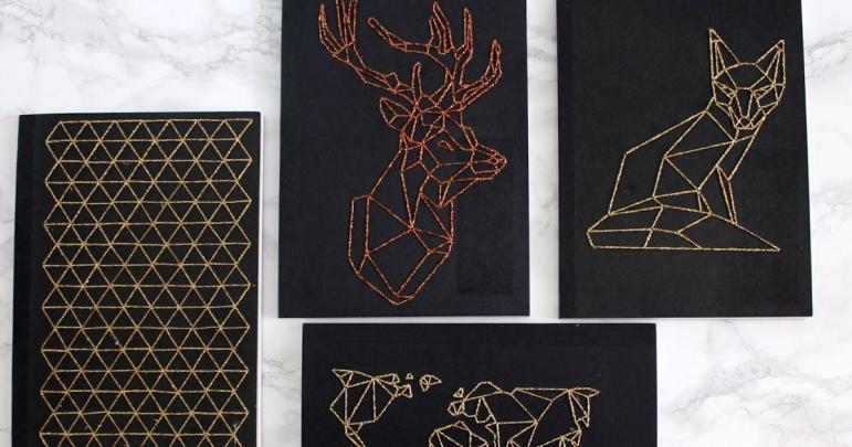 Urban Fox Diy Geometric Embroidered Notebook