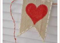 Valentine Day Banner Burlap Tutorial Fox Hollow