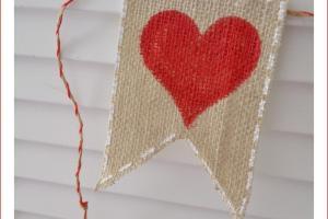 Valentine Day Banner Burlap Tutorial Fox Hollow