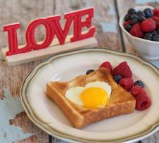 Valentine Day Breakfast Idea Eggs Heart Shaped Basket