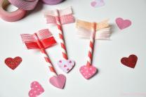 Valentine Day Craft Paper Straw Washi Tape Arrows