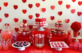 Valentine Day Dessert Table Say Cake