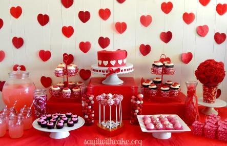 Valentine Day Dessert Table Say Cake