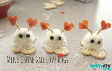 Valentine Day Mini Cheese Ball Love Bugs Snacks