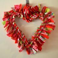 Valentine Rag Tie Wreath Girl Life Blog