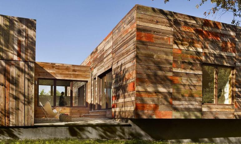 Vernacular Inspired Delaware Home Built Recycled Barn