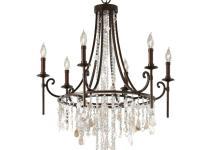 Vintage Bronze Crystal Chandelier Light Cascading
