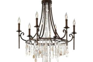 Vintage Bronze Crystal Chandelier Light Cascading