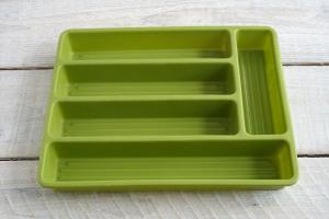 Vintage Flatware Tray Silverware Drawer Organizer 70s