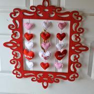 Vintage Frame Valentine Day Wreath Diy