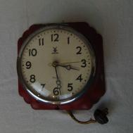 Vintage Ingraham Miller Lotus Lenox Electric Wall Clock