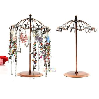 Vintage Metal Umbrella Earring Necklace Jewelry Rack