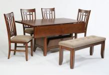 Vintage Modern Rectangular Double Drop Leaf Dining Table