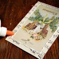Vintage Sheet Music Handmade Christmas Card