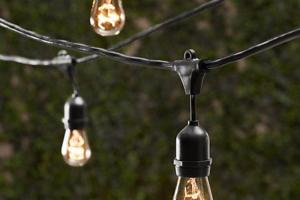 Vintage String Lights Bulbs Included Commercial