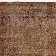 Vintage Turkish Brown Overdyed Rug Sale Pamono