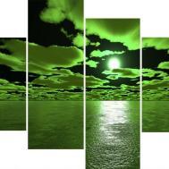 Wall Art Designs Green Canvas Decor