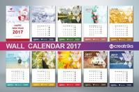 Wall Calendar 2017 V017 Presentation Templates