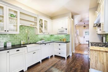 Wall Color Kitchen White Cabinets Also