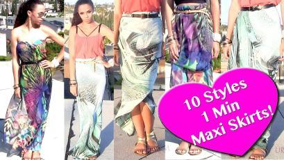 Ways Wear Scarf Skirt Dress Diy Maxi