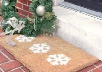 Welcome Holidays Diy Winter Door Mats Liveabode