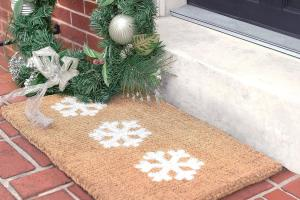 Welcome Holidays Diy Winter Door Mats Liveabode