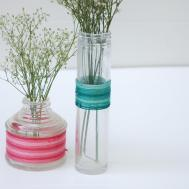 Well Okay Quick Diy Ombre Wrapped Bud Vases