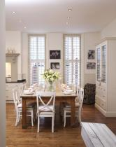 White Country Dining Room Decorating Ideas
