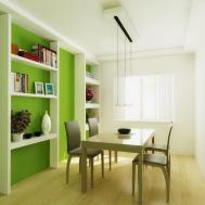 White Furniture Set Modern Dining Room Decorating