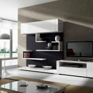 White Living Room Cabinets Modern House