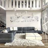 White Luxury Home Design Ideas Combined Modern