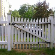 White Picket Fence Gate