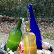 Wine Bottle Waterfall Fountain Building Making
