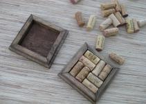Wine Cork Coasters Diy Set Dark Brown Reclaimed