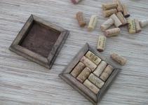 Wine Cork Coasters Diy Set Dark Brown Reclaimed