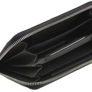 Womens Wallet Clutch Zipper Around Genuine Leather Card