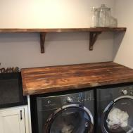Wood Shelves Laundry Room