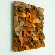 Wood Wall Art Geometric Industrial Decor