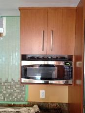 Wood Wall Mounted Microwave Shelf Storage Under Cabinet