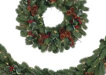 Woodbury Classic Noble Fir Wreath Garland Tree Classics