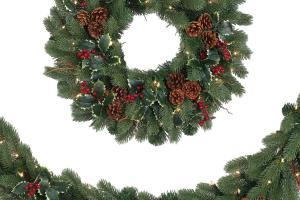 Woodbury Classic Noble Fir Wreath Garland Tree Classics